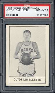 1961 Essex Meats St. Louis Hawks #9 Clyde Lovellette (Hall of Famer