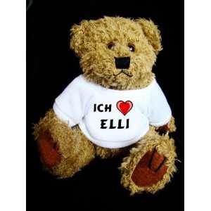 Teddy Bear mit Ich liebe Elli t shirt  Spielzeug