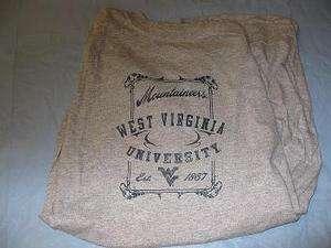 West Virginia University Mountaineers Shirt Large or medium Lot of 6