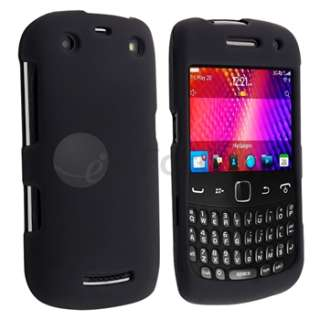 New Black Rubberized Hard Skin Case Cover for BlackBerry Curve 9350