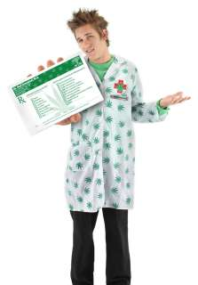 POT DOCTOR WEED MAN Leaf medical Marijuana Card Costume Kit