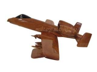 10 WARTHOG THUNDERBOLT WOODEN WOOD MODEL REPLICA