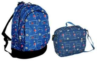 Book Lunch Box Bag Set Boys Soccer Ball Player Blue New