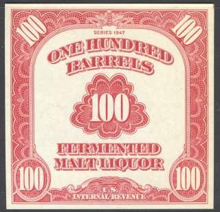 Beer Tax Stamp Scott/Pri REA197 (223a)