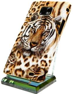 S2 i9100 TIGER Cover hard Case Hülle schale no strass bling