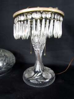 SUPERB* Antique Pairpoint Cut Glass Table Lamp with Butterflies