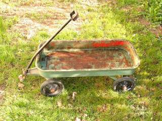 no shipping       vtg radio flyer wagon for parts or restore