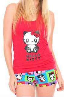 HELLO KITTY~RED PANDA ANIMAL CAMI TANK BOOTY SHORTS SET