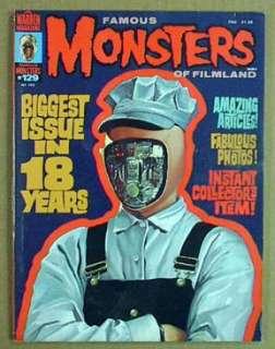 1976 FAMOUS MONSTERS FILMLAND#129 Mag Dracula/Daleks