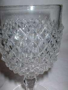 EAPG Knob Stem Diamond Point Sawtooth Water Goblet