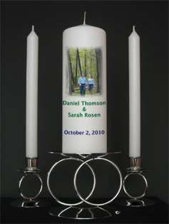 Personalized Custom Unity Candles from Goody Candles Photo Candles