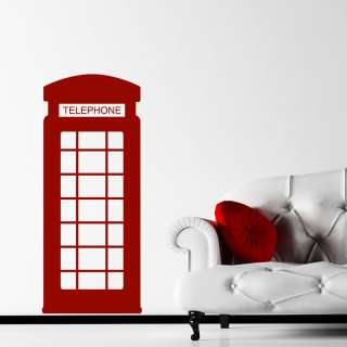 British Red Telephone Box Wall Stickers / Wall Decals 5053379188133