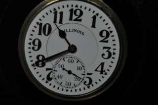 16 SIZE ILLINOIS SIXTY HOUR 21J BUNN SPECIAL POCKET WATCH KEEPING TIME