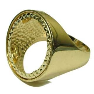 NEW 10g Half Sovereign 9ct Gold Hallmarked Ring Mount