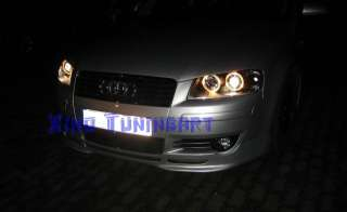 anteriori ANGEL EYES NERI per AUDI A3 8P 8PA Led BLACK fondo nero