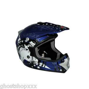 Casco Moto Cross ONE Falcon BLU M 57 58