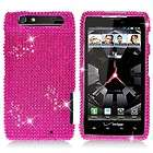 Hot Pink Crystal Diamond BLING Case Phone Cover Verizon Motorola Droid