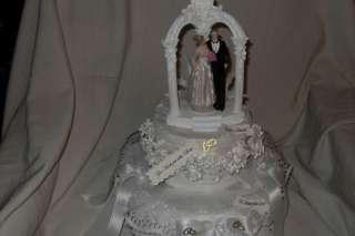 Hochzeit Handtuch Torte Brautpaar im Pavillon Geldgeschenk weiß 40 cm