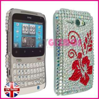 BLING DIAMOND GEM CASE COVER FOR HTC CHA CHA CHACHA