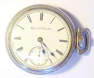 Elgin 1889 Antique Sidewinder Pocket Watch 18s / 11 Jewels