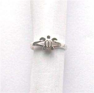 Hawaiian .925 Sterling Silver Toe Ring Hawaii Petroglyph Design Turtle