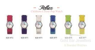 Childrens Kids Boys Girls Reflex Colour Velcro Watch