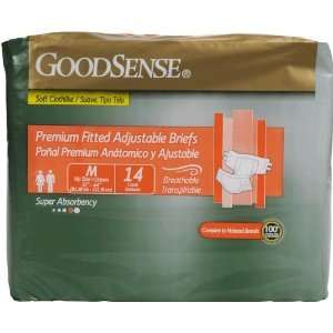 Goodsense Unisex Premium Fitted Adj Briefs 14 Ct Medium