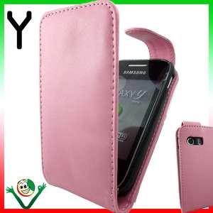 in pelle slim ROSA per Samsung Galaxy Y S5360 foderino leggero morbido