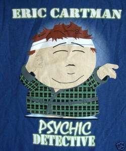 Licensed South Park shirt Cartman, Psychic PI    lg