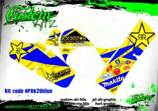 SUZUKI LT50 ROCKSTAR MAKITA QUAD GRAPHICS   ATV   STICKERS LT 50