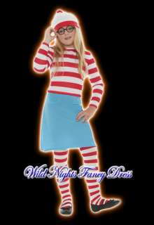 FANCY DRESS COSTUME # GIRLS WHERES WALLY? WENDA MED AGE 7 8 9
