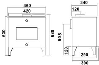 JA010 Cast Iron Multifuel Wood Log Burning Stove 7kw 0608866256328