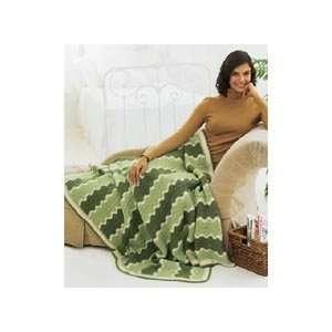 Southwest Sage Throw Crochet Afghan Kit: Home & Kitchen