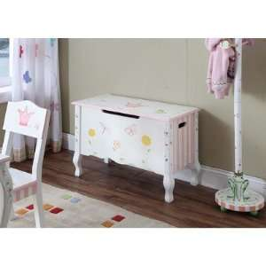 Teamson Kids Princess Frog Hand Painted Kids Toy Chest,Box