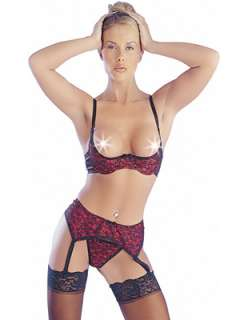 LACE QUARTER CUP BRA SET 3 COLOURS SIZES 34B 36B 38B