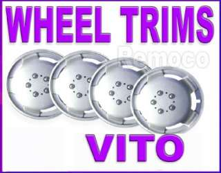 benz VITO VAN + mini bus WHEEL TRIMS 15 inch HUB CAPS COVERS SET x 4