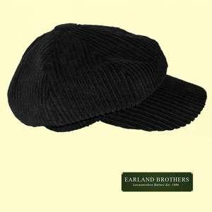 Corduroy BAKER BOY CAP HAT News Boy Black Navy Grey Purple Magenta