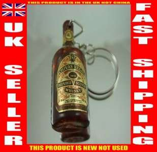 KEY RING BOTTLE REPLICA CHAVAS REGAL SCOTCH WHISKY