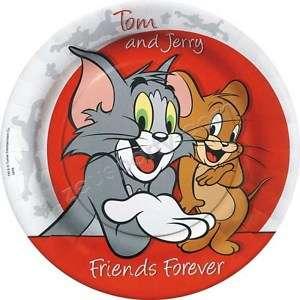 PARTY DISNEY piatti piani carta compleanno TOM E JERRY