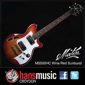MS500 HC Semi Hollow Electric Guitar + Maton Hard Case + FREE FREIGHT