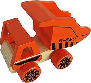 Childrens Wooden Toy Dump Truck W/Tipping Tray Boy New