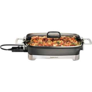 Hamilton Beach HB Electric Skillet in Slow and Pressure Cookers