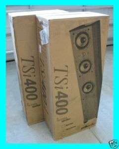 POLK AUDIO TSI400 TSI 400 TOWER FLOOR STANDING SPEAKERS ★BLACK