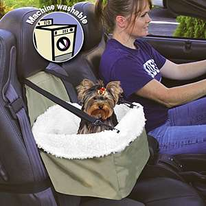 REMOVABLE FAUX SHEEPSKIN TRAVEL PET DOG CAT CAR SEAT