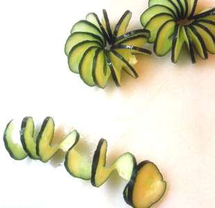 ◥◣Tupperware Couteau Taille Spirale à Légumes vert◢◤