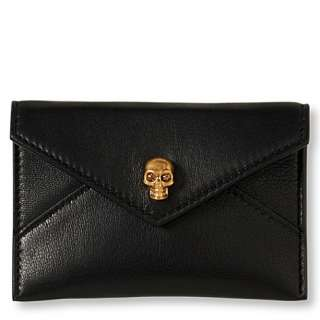 Skull envelope card holder   ALEXANDER MCQUEEN   Purses   Handbags