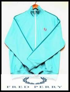 FRED PERRY Twin Tape Track Jacket Turquois Blue Sz M