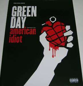GREEN DAY AMERICAN IDIOT, Piano/Vocal/Chords, Song Book