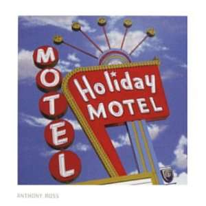 Holiday Motel by Anthony Ross . Art PRINT Poster 28.00 X