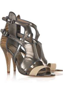 Surface to Air Open cutout leather sandals   60% Off Now at THE OUTNET